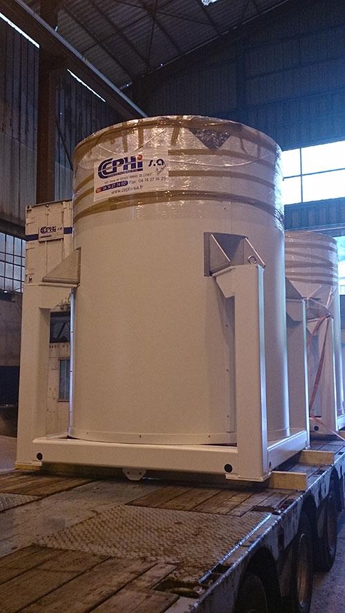 Photo d'une réalisation de chaudronnerie industrielle cephi